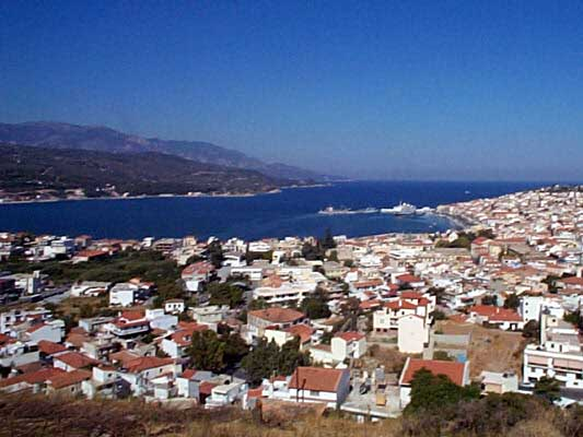 VATHI - View of the port from Vathi (Samos town)