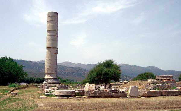 The temple was built near the mouth of the river Imvrasos because the area was connected with the worship of the goddess even though the ground isn't so stable.