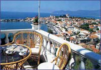 HERA II HOTEL, VIEW FROM THE HOTEL'S BALCONY, PYTHAGORIO SAMOS