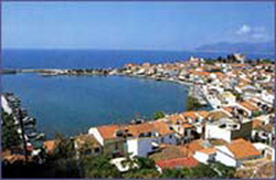 HERA II HOTEL, SPECTACULAR VIEW FROM THE HOTEL TOWARDS THE PYTHAGORIO'S PORT, PYTHAGORIO SAMOS