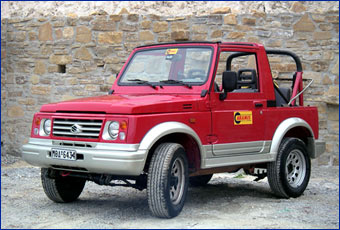 SUZUKI SAMURAI ARAMIS RENT A CAR CLICK TO ENLARGE