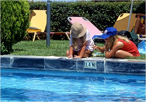 KOKKARI Image of Children Playing at the Swimming Pool CLICK TO ENLARGE