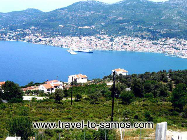 Picture of a Plot with View to Samos Town CLICK TO ENLARGE