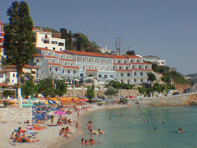 GAGOU BEACH Picture of the Beach and the Hotel CLICK TO ENLARGE