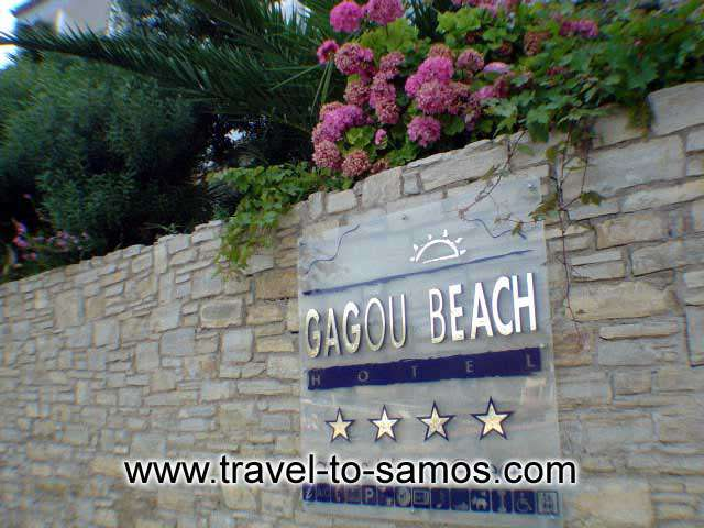 GAGOU BEACH Image of the Entrance CLICK TO ENLARGE